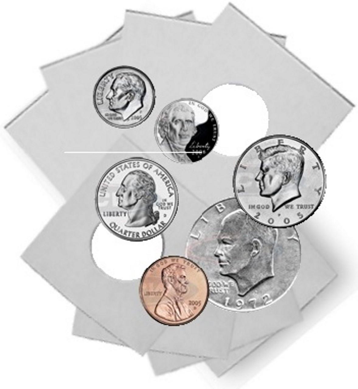 1,000 2x2 Holders 7 Different Sizes Coin Flip Mega Assortment