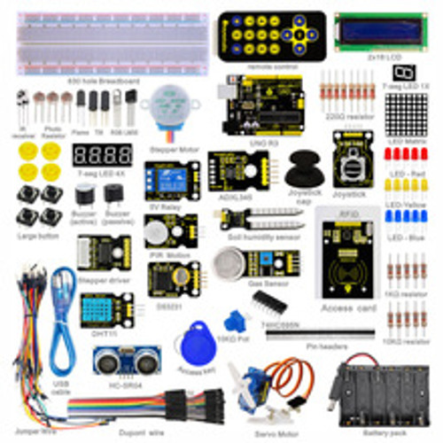 Keyestudio Super Starter kit/Learning Kit(UNO R3) for arduino Starter kit  with 32 Projects +1602 LCD RFID+PDF