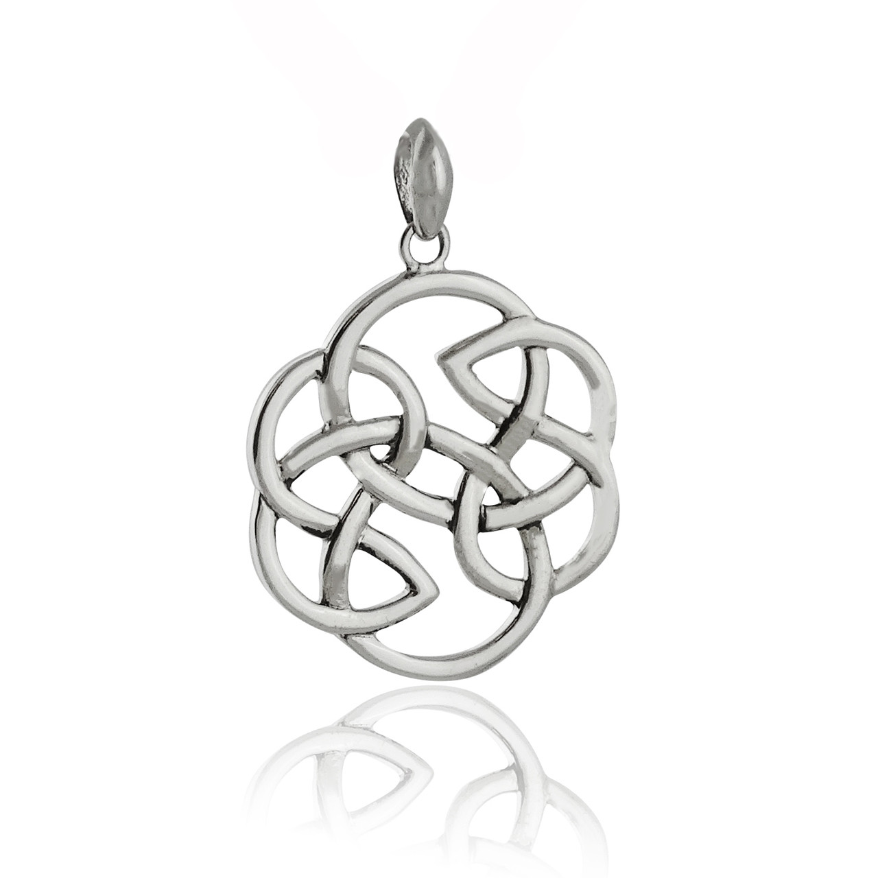 925 Sterling Silver Celtic Heart Infinity Knot Charm Pendant Necklace Unisex