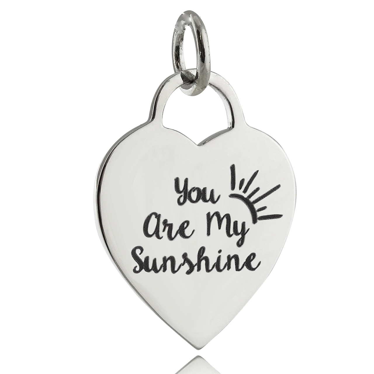 84fe94f7b62fa7 You Are My Sunshine Engraved Pendant - 925 Sterling Silver - REO ...