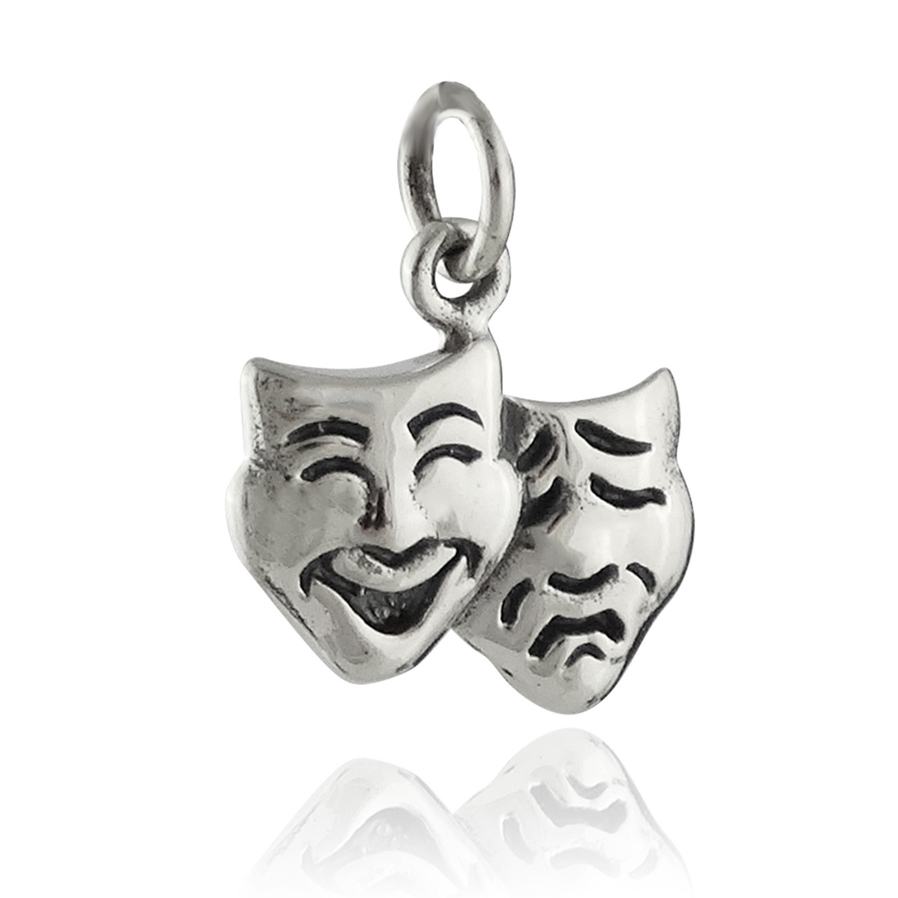 Jewelry Best Seller Sterling Silver Comedy//Tragedy Charm