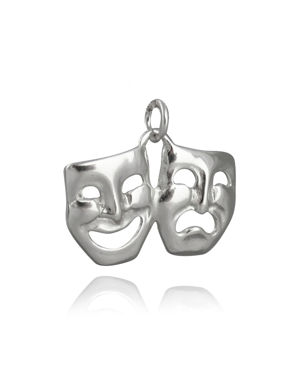 925 Sterling Silver Comedy Tragedy Masks Charm