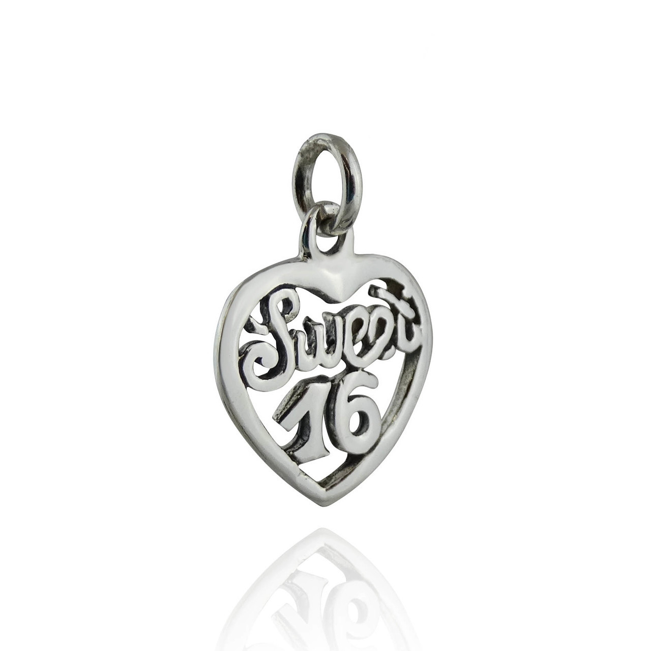 925 Sterling Silver Sweet 16 Charm