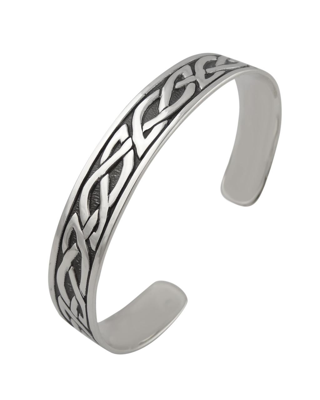 Sterling Silver Celtic Knot Cuff Bracelet