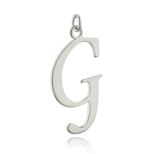 Script Letter G Charm - 925 Sterling Silver - REO Company Wholesale Fine  Jewelry