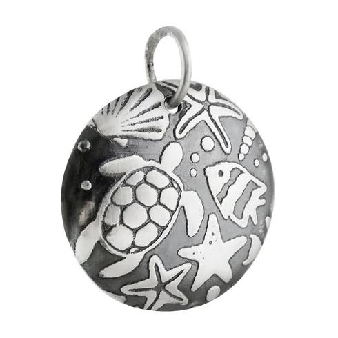 925 Sterling Silver Whimsical Marine Life Ocean Sea Lion Seal Pendant