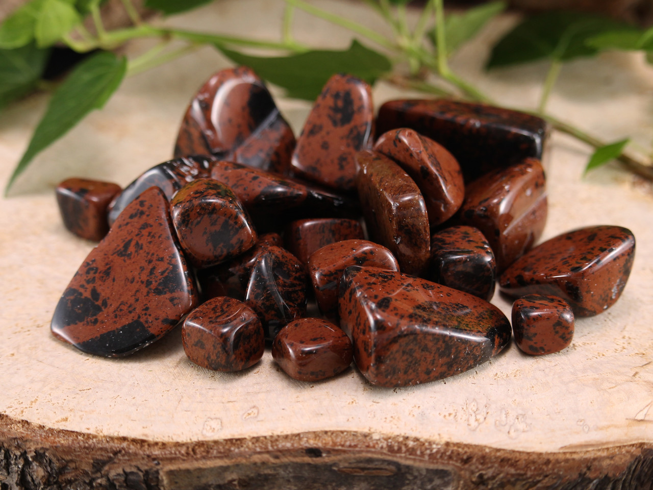 Polished Obsidians Mahogany Obsidian Tumbled Stones Nice Quality