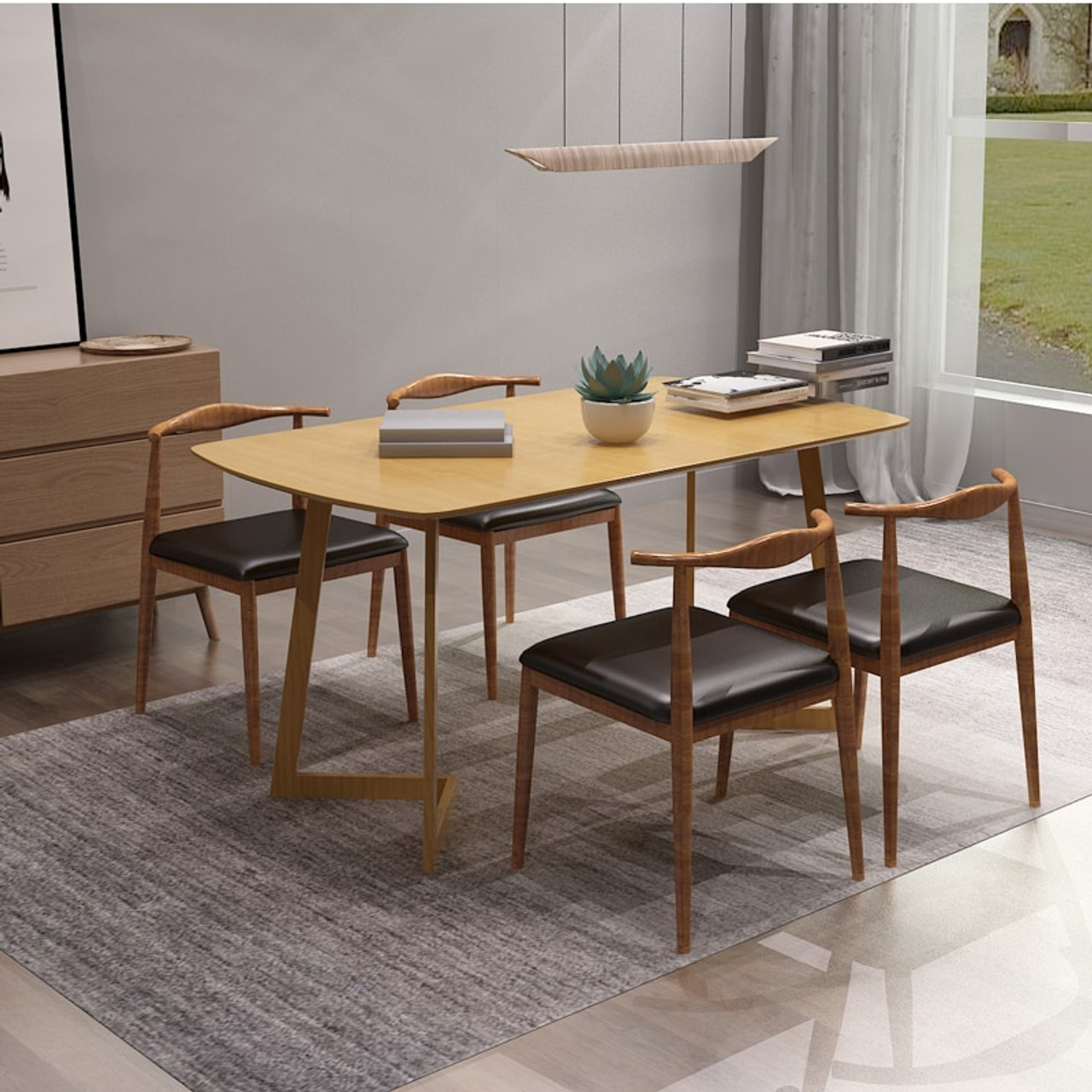 - Dining Table Set Folding Dining Room Table Set - Furnisima