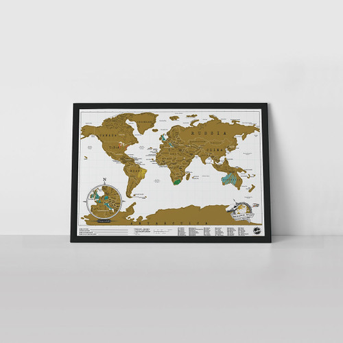 Original Scratch Map Travel by Luckies of London