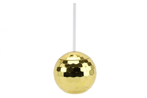 Gold Disco Ball Cocktail Glass