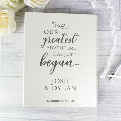 Personalised Our Greatest Adventure Wedding Planner