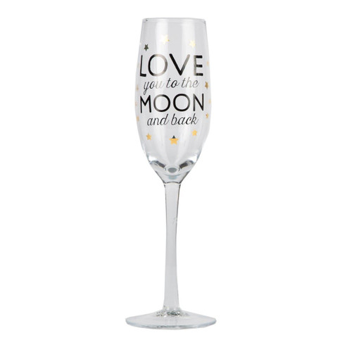 Love You to the Moon & Back Champagne Glass