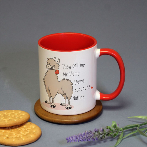 Mr Llama Llama Red Inside Mug