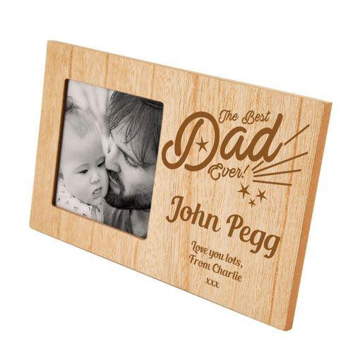 Personalised Best Dad Ever Photo Frame