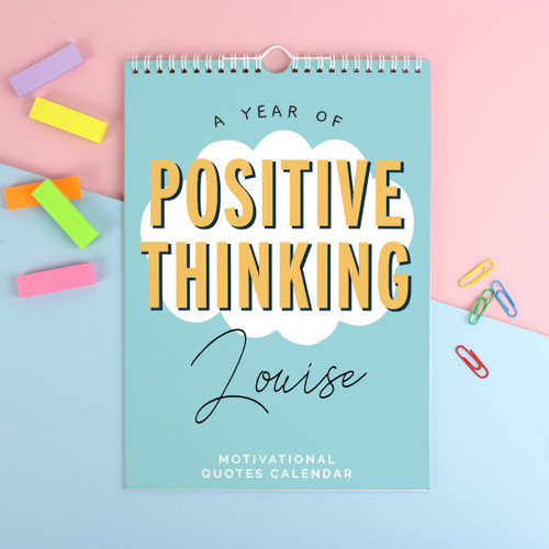 Personalised A4 Motivational Quotes Calendar
