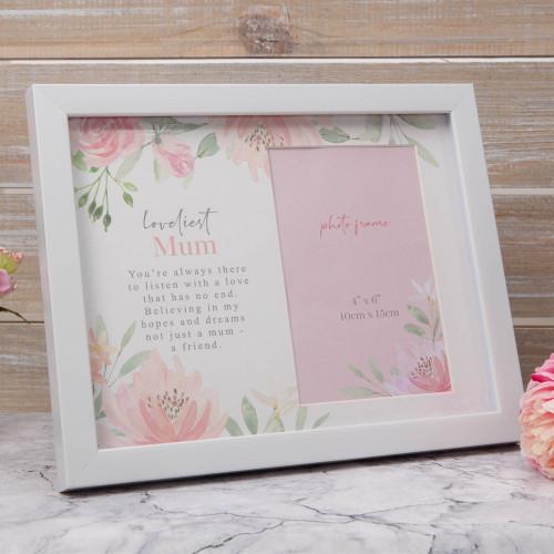 Loveliest Mum Floral Photo Frame 4'' x 6''