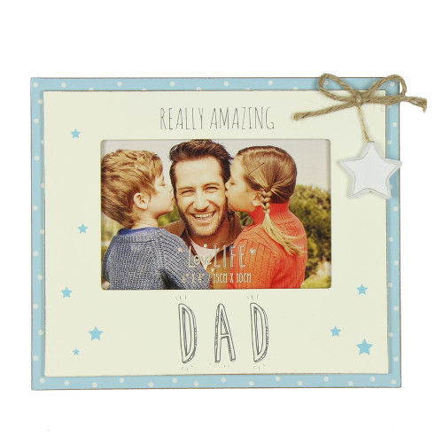 Wooden Really Amazing Dad Sentiment Photo Frame Gift
