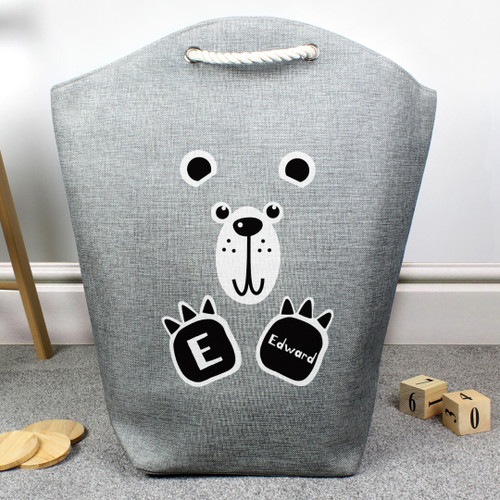 Personalised Bear Toy Storage Bag