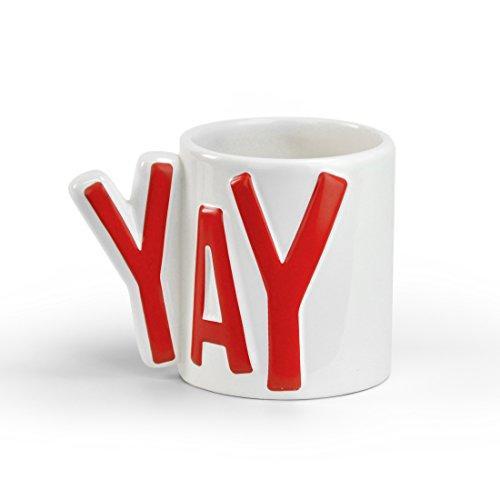 Mustard Mugnificent - Yay - Word Shaped Ceramic Mug