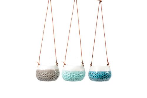 Burgon & Ball Trio of 'Baby Dotty' Hanging Pots