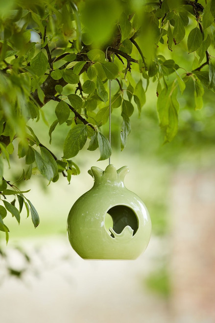 Sophie Conran Ceramic Pomegranate Small Bird Feeder