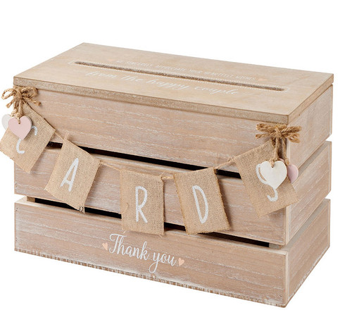 Rustic Shabby Chic Style Wooden Wedding Card Box Post Box