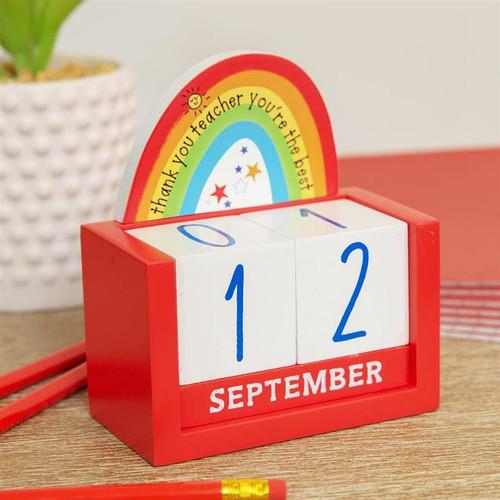 Thank You Teacher Perpetual Calendar