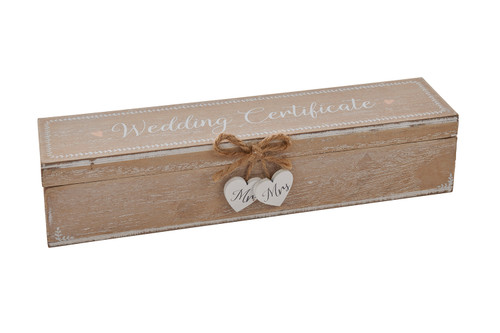 Vintage Style Boho Wedding Day Certificate Holder Box
