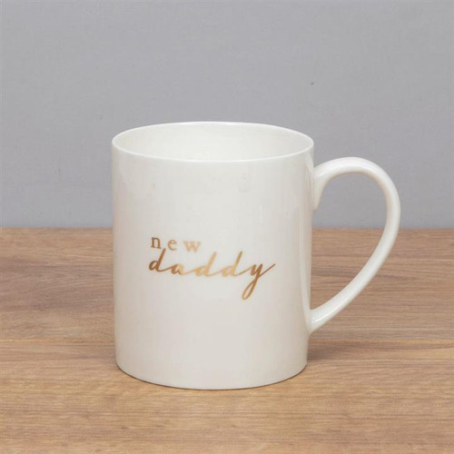 Bambino New Daddy New Bone China And Gold Foil Mug