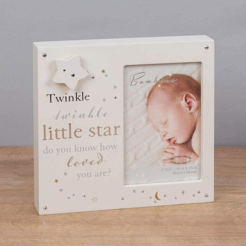Bambino Musical Photo Frame 4'' X 6''- Twinkle Twinkle Little Star Baby Picture Frame
