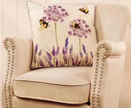 Lavender Bee Cushion Beautiful Bee