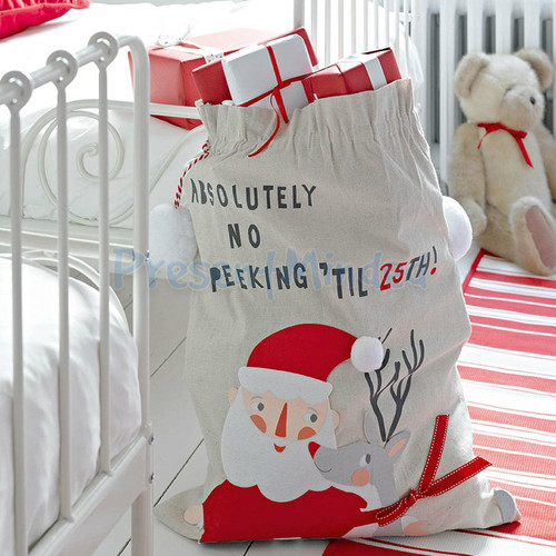 Christmas Stocking Waiting For Santa Sack