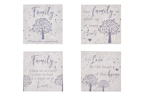 Set of Four Family Tree Coasters