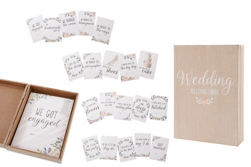Floral Wedding Milestone Cards