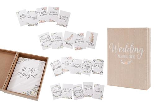 Floral Wedding Milestone Cards