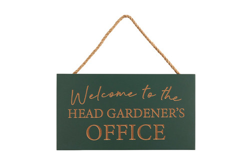 Head Gardener's Sign Rustic Wooden Plaque For Shed