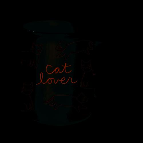 Ceramic Cat Lover Mug Cat Covered Mug