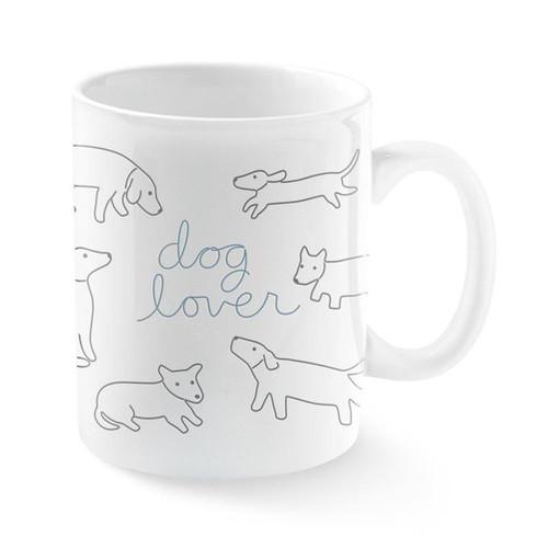Ceramic Dog Lover Mug Dog Covered Mug