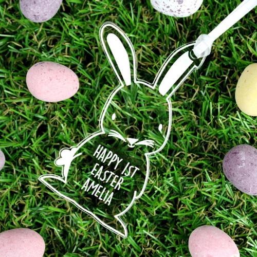 Personalised Acrylic Easter Bunny Tree Decoration