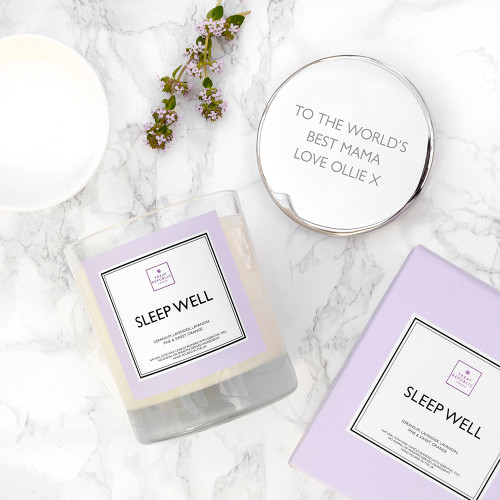 Personalised Sleep Well Scented Candle
