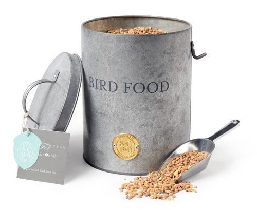 Burgon & Ball Galvanised Sophie Conran Bird Food Tin