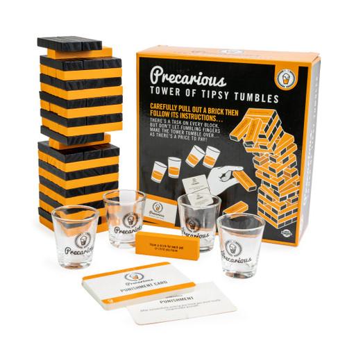 Precarious Tipsy Tumbles - Jenga Style Drinking Game