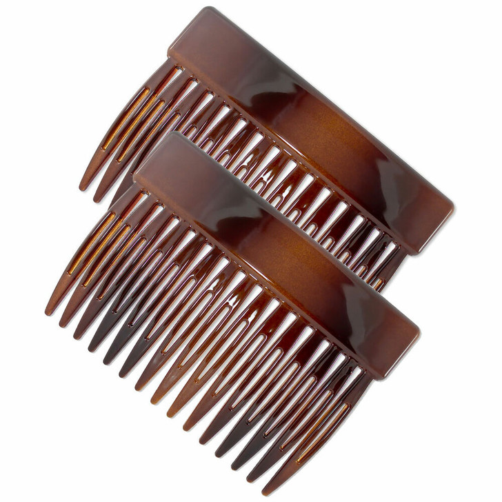 Classic Rectangle Hair Combs. Tortoiseshell - Made in France.