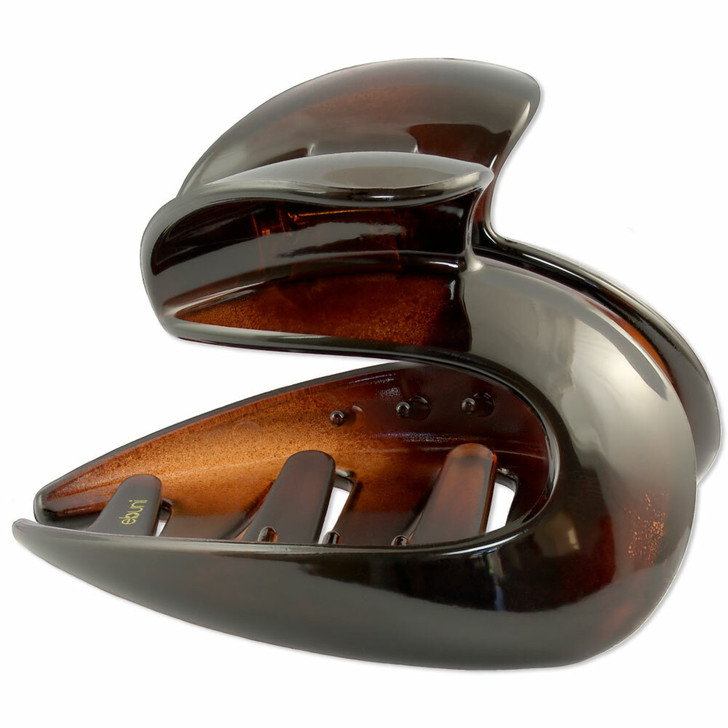 Cadice Large French Hair Claw (Tortoiseshell / Brown)