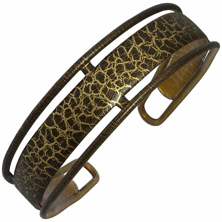 Brown / Gold Pouillot pattern French Hair Band