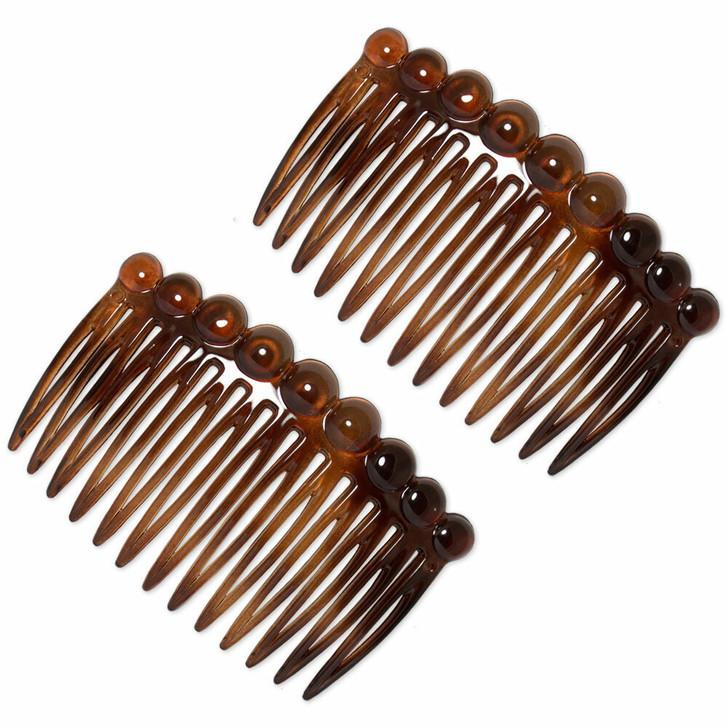 The Veva French Hair Comb Tortoiseshell / Brown 7cm (Pair)