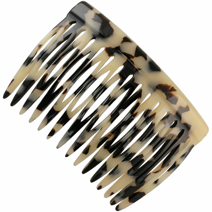 7.5cm Side Hair Comb - Handmade in France (Tokyo Blanc)