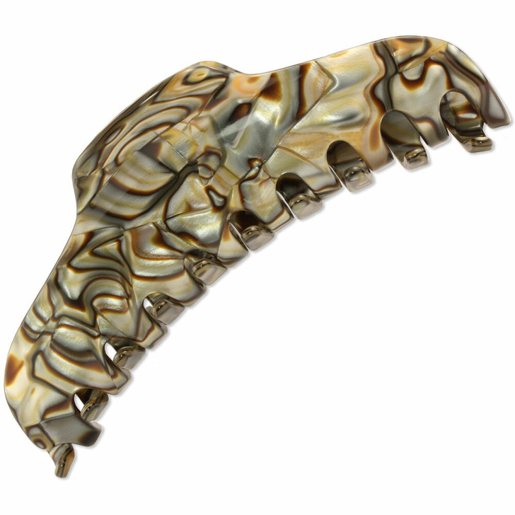 Ozanne French Hair Claw for Thick/Long Hair (Onyx)