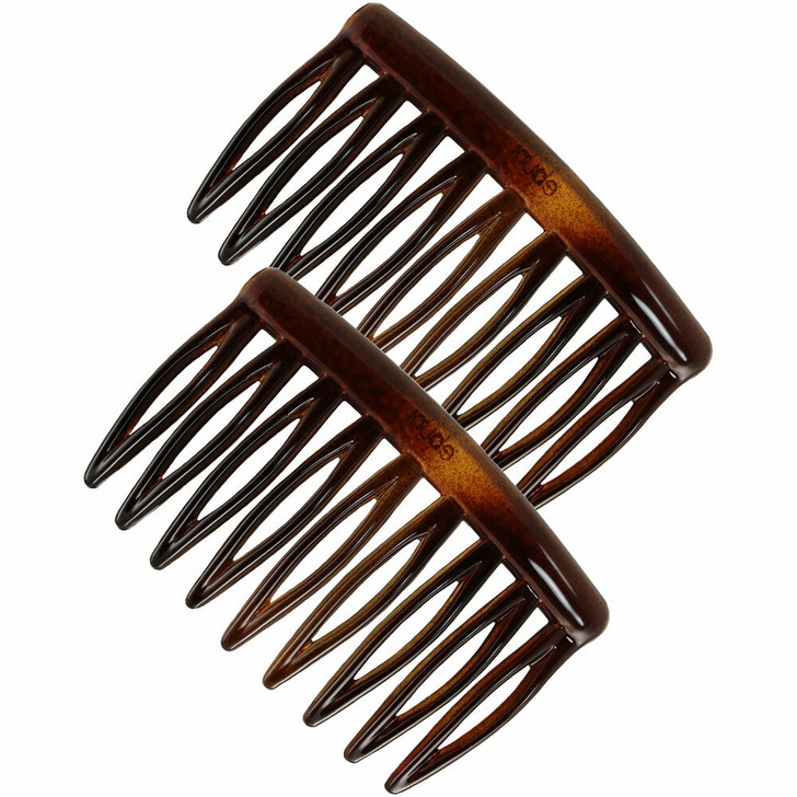 Small 5cm French Side Hair Combs (Tortoiseshell)