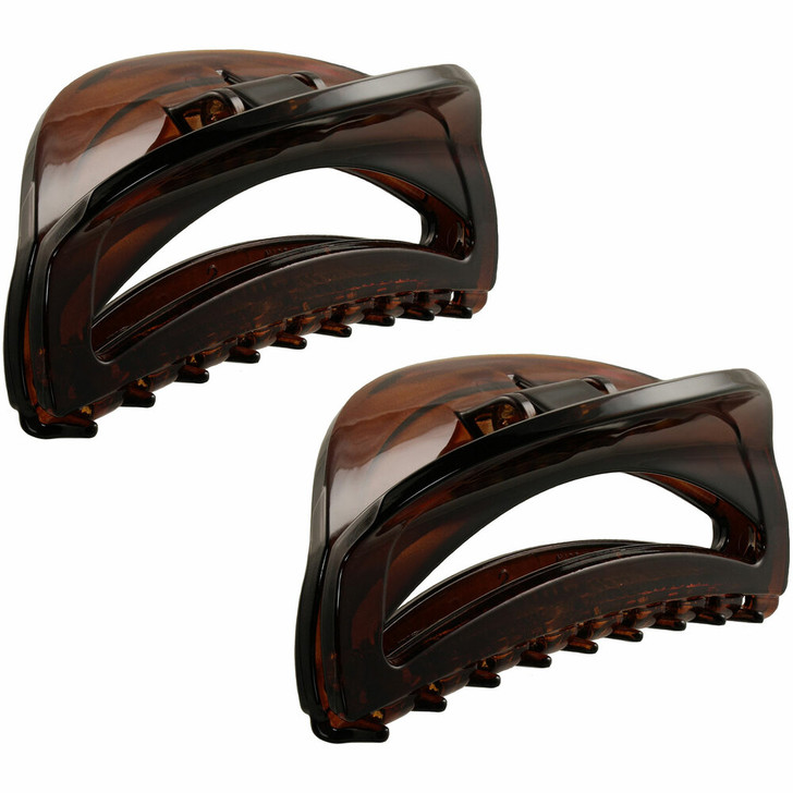 7.5cm Curved Cut-out Hair Claws (Tortoiseshell)